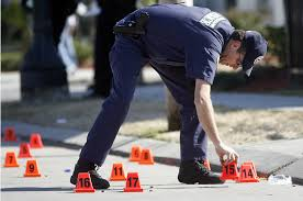 shell casings and markers