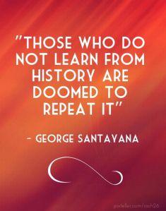 santayana learn from history