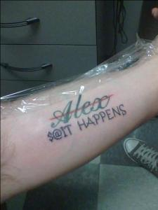 shit happens tatt